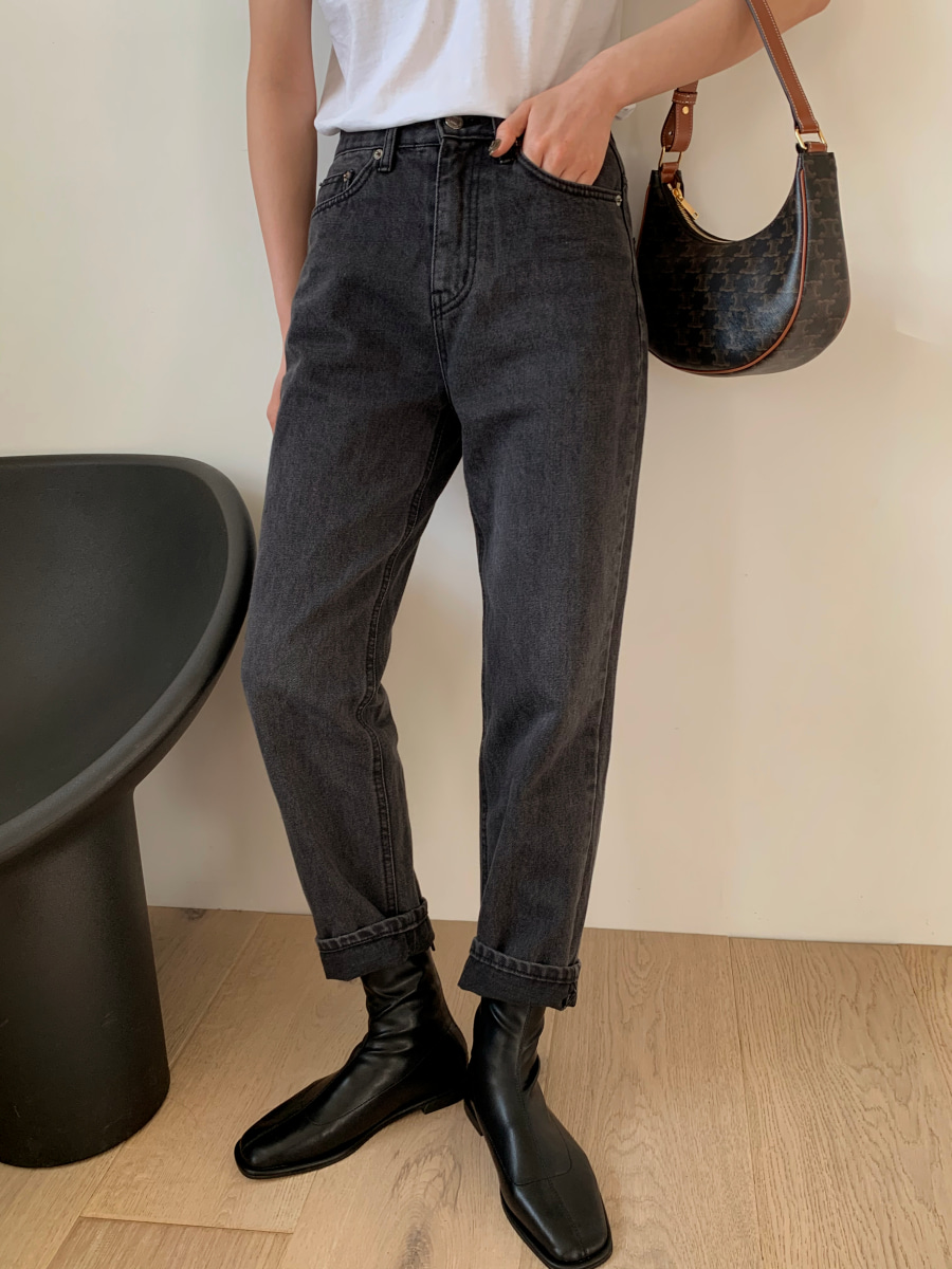 Marcher denim pants [Black]