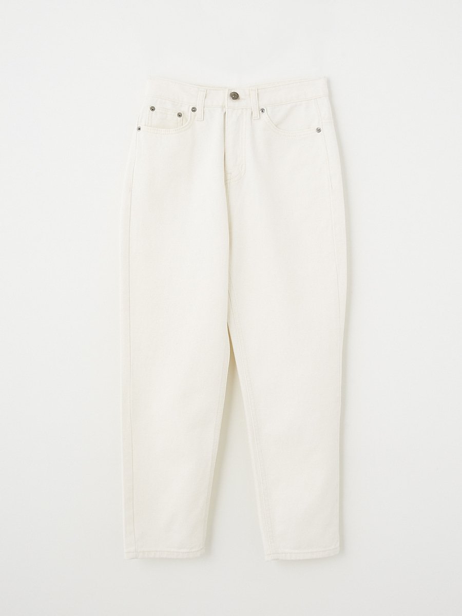 [Pre-order] Marcher denim pants [Cream]