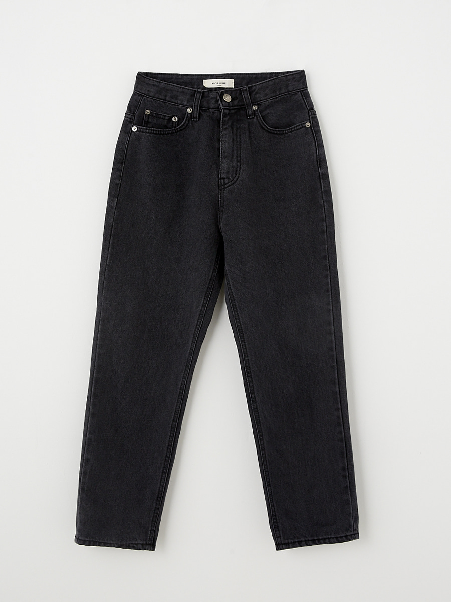[Pre-order] Marcher denim pants [Black]