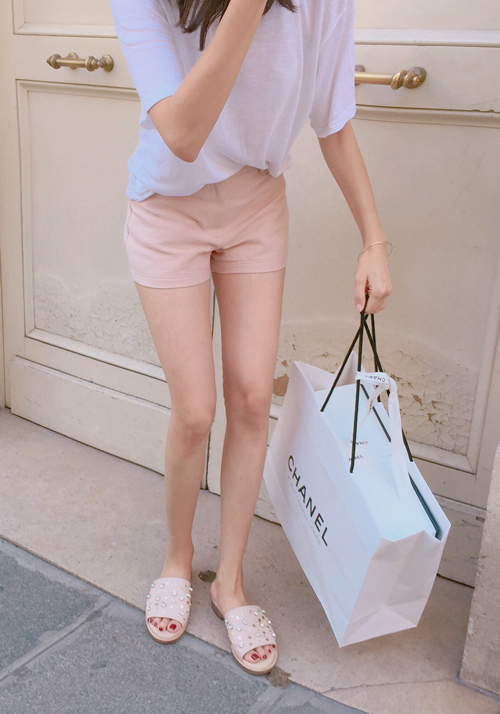 simple shorts / pink