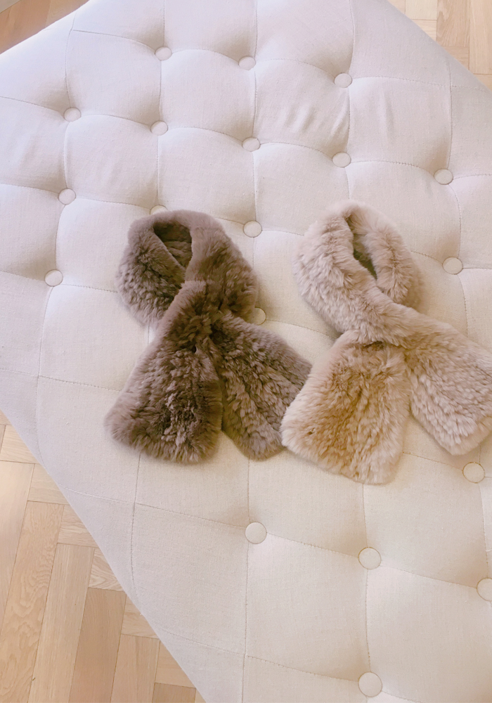 Rex fur mini muffler / 2color