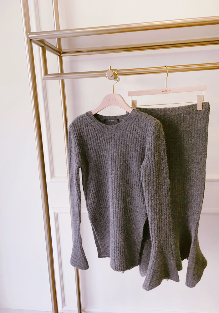 Anais knit top / grey