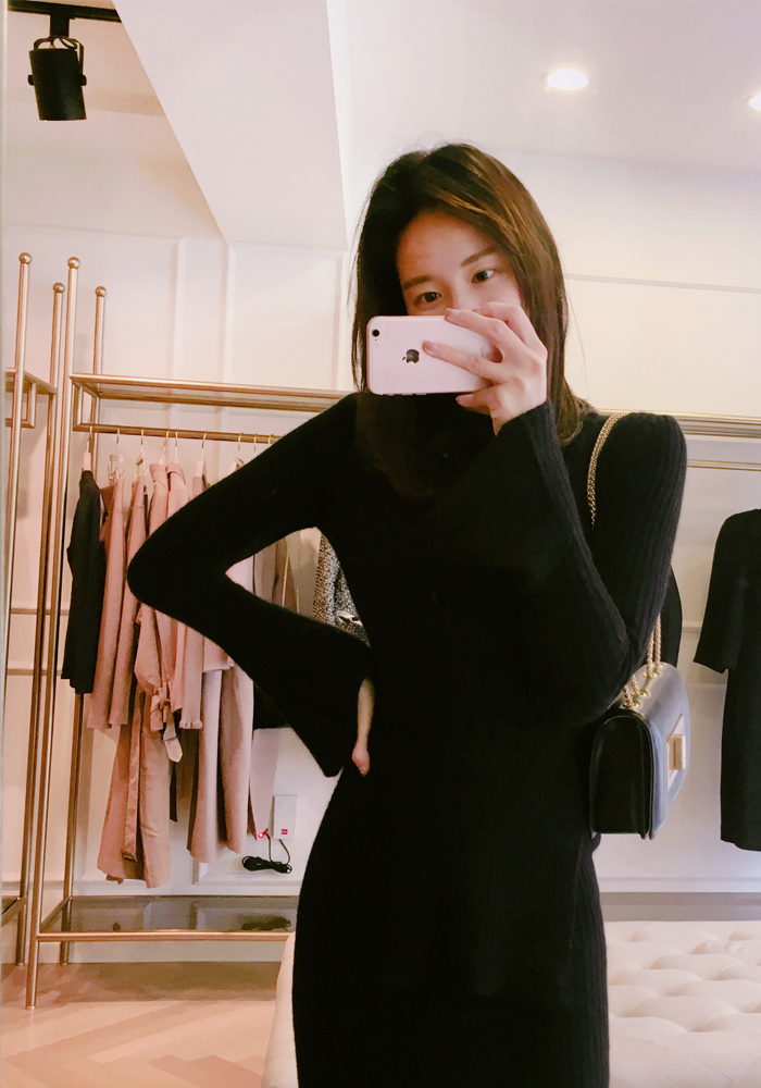 Anais knit top / black