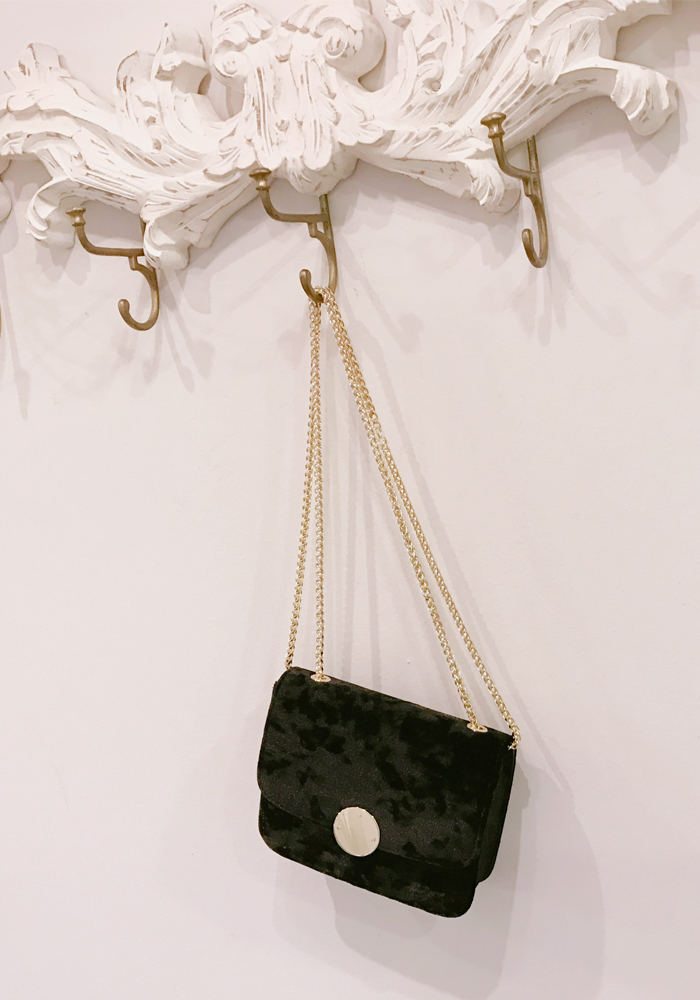 Velvet mini bag / black