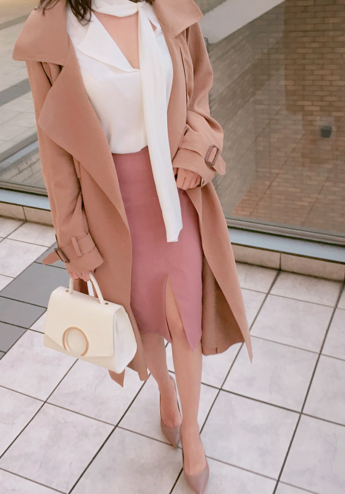Modern trench coat / pink