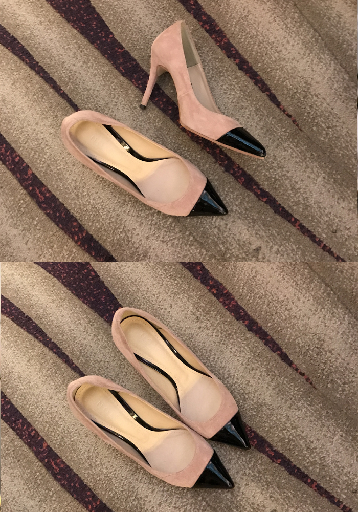 Nine point toe heel / pink