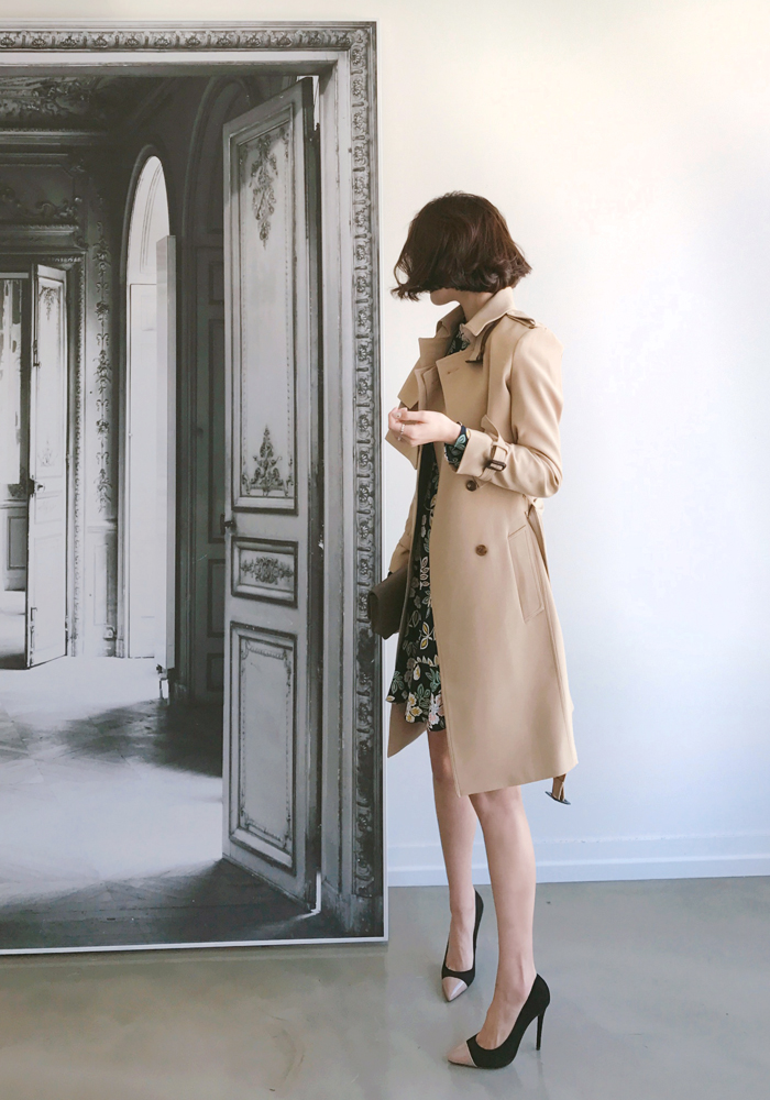 2 peice trench dress jacket / camel