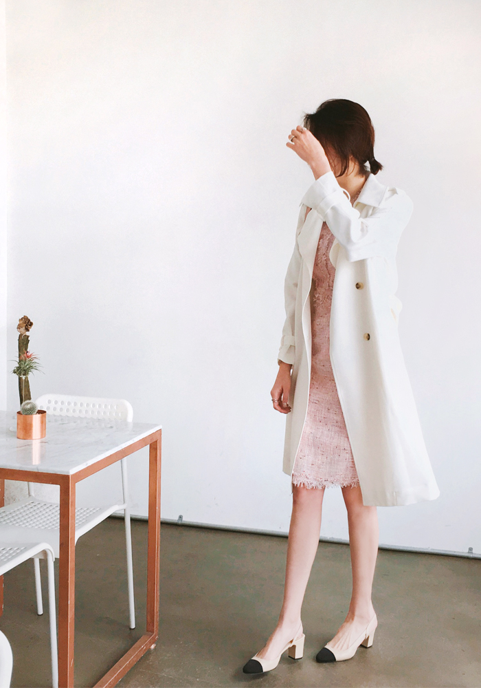 Milan trench coat / ivory