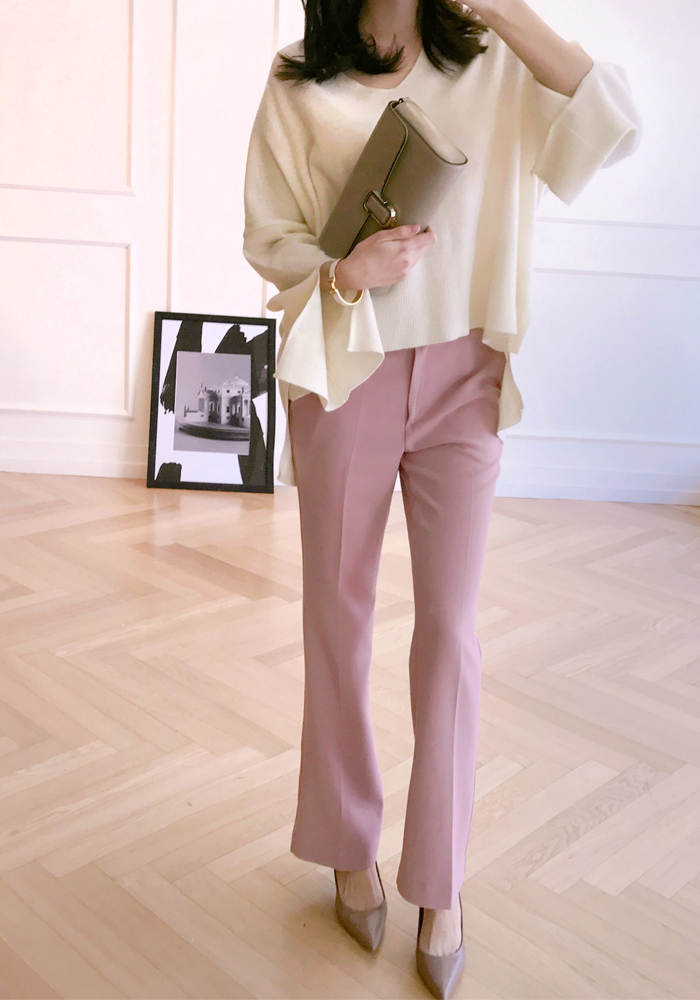 High cut slacks / pink