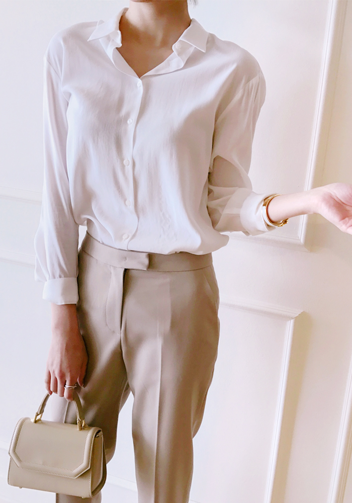 Equip blouse / ivory