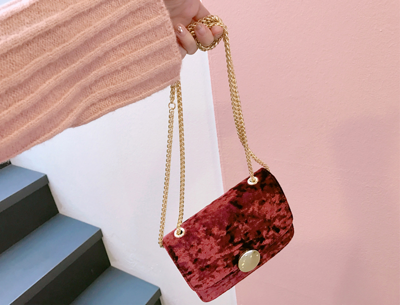 Velvet mini bag / burgundy