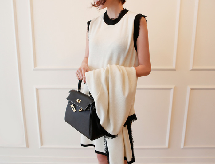 Mademoiselle sleeveless dress / ivory