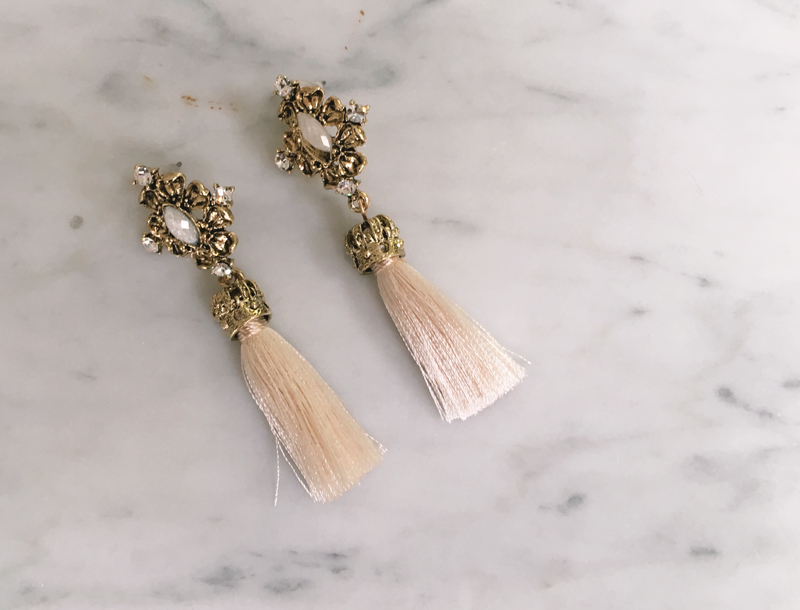 Antique tassel earring