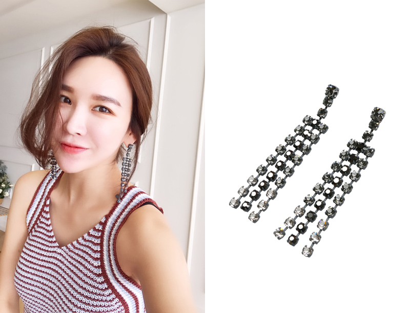 Drop cubic earring