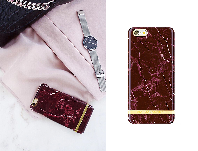 [Richmond & Finch] Red Marble iPhone Case
