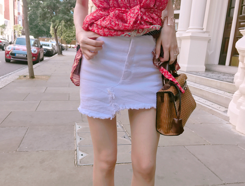 Signature pants skirt / white