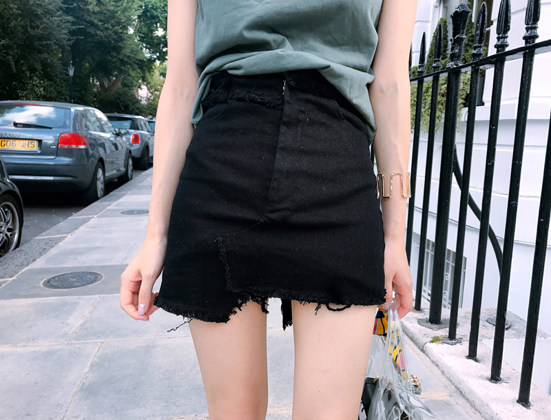 Signature pants skirt / black