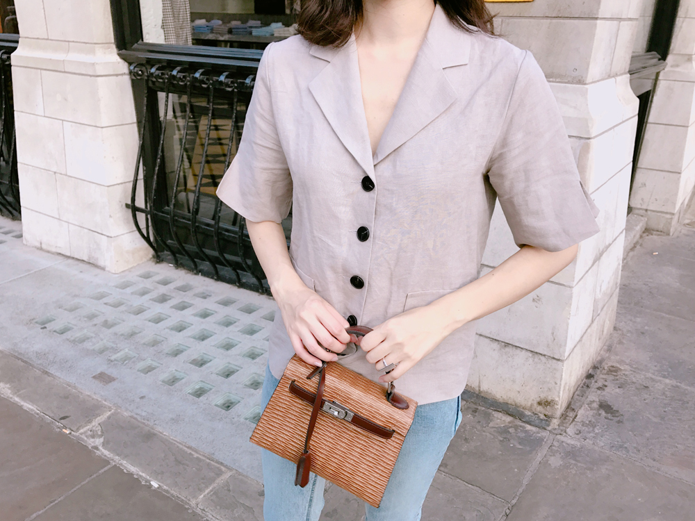 Button blouse / beige