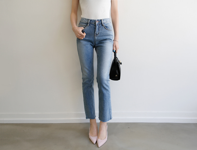 Touch straight fit denim jeans
