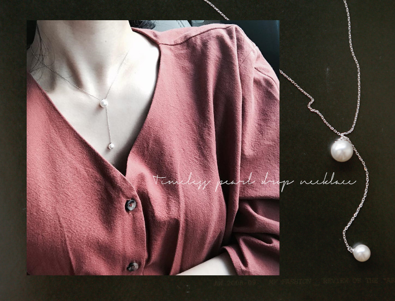 Timeless pearl drop necklace