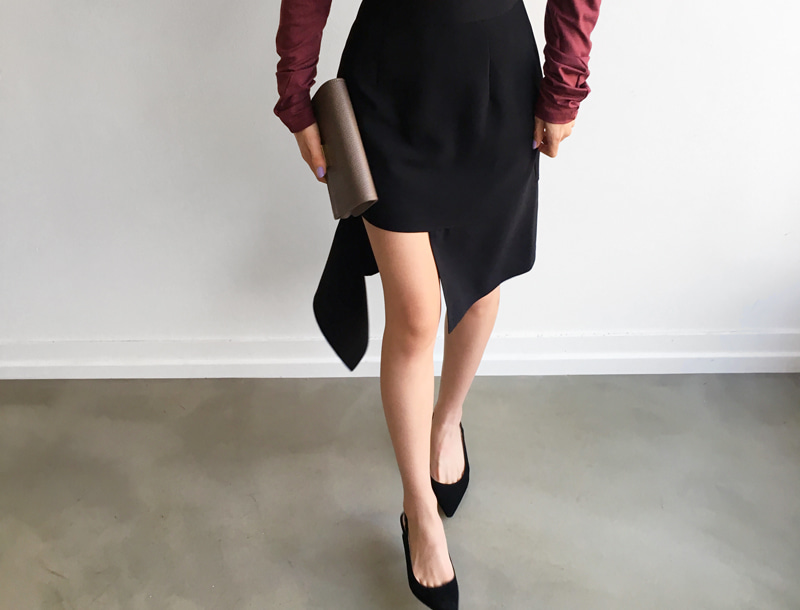 Unique cut skirt / 2color #1